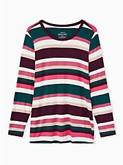 Super Soft Multi Stripe Long Sleeve Tee, MULTI STRIPE, hi-res