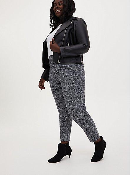 Black Belted Trouser Pant, DEEP BLACK, alternate