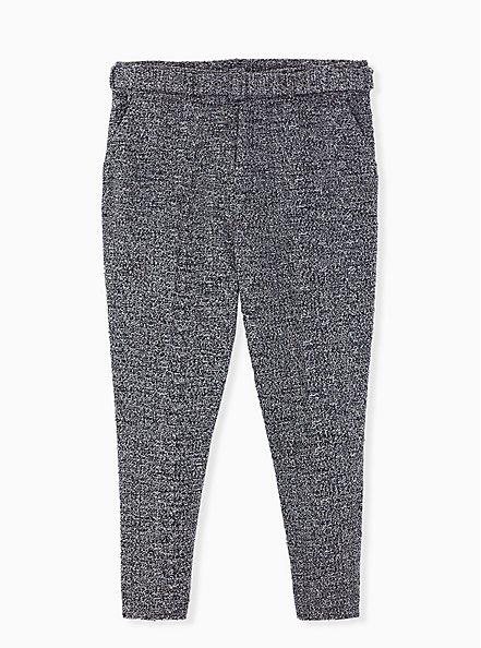 Black Belted Trouser Pant, DEEP BLACK, hi-res