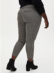 Black & Taupe Gingham Double Knit Skinny Ankle Pant , GINGHAM CHECK, alternate