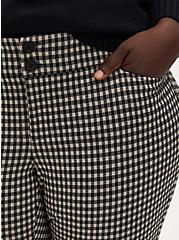 Plus Size Black & Taupe Gingham Double Knit Skinny Ankle Pant , GINGHAM CHECK, alternate