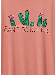 Can't Touch This Cactus Slim Fit Crew Tee - Dusty Rose , WITHERED ROSE PINK, alternate