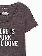 Work To Be Done Slim Fit V-Neck Tee - Triblend Jersey Dark Slate Grey, NINE IRON, alternate