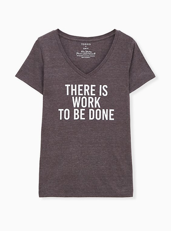 Work To Be Done Slim Fit V-Neck Tee - Triblend Jersey Dark Slate Grey, NINE IRON, hi-res
