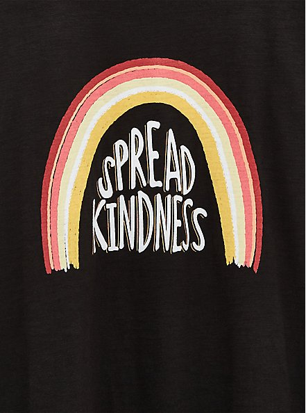 Spread Kindness Relaxed Fit Crew Tee - Slub Black, DEEP BLACK, alternate