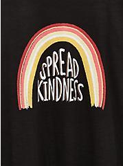 Plus Size Spread Kindness Relaxed Fit Crew Tee - Slub Black, DEEP BLACK, alternate