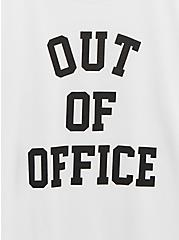 Out Of Office Slim Fit Crew Tee - White, BRIGHT WHITE, alternate