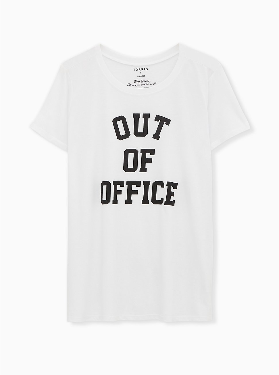 Out Of Office Slim Fit Crew Tee - White, BRIGHT WHITE, hi-res