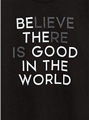 Be The Good Relaxed Fit Crew Tee - Slub Black, DEEP BLACK, alternate