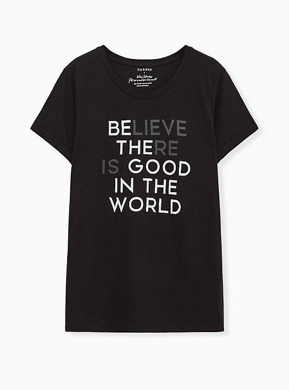 Be The Good Relaxed Fit Crew Tee - Slub Black, , hi-res