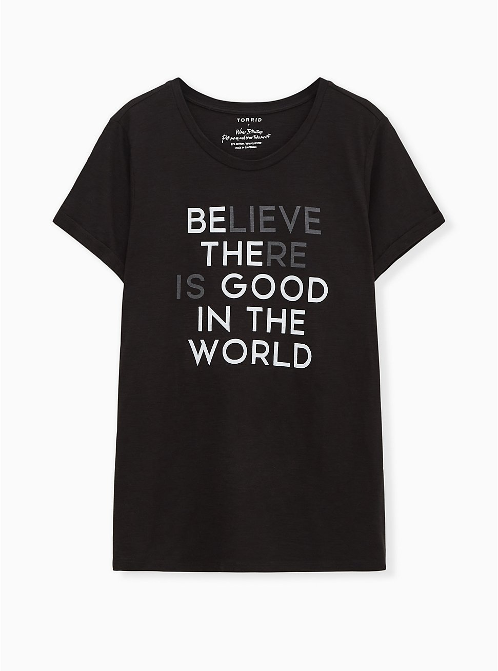 Be The Good Relaxed Fit Crew Tee - Slub Black, DEEP BLACK, hi-res