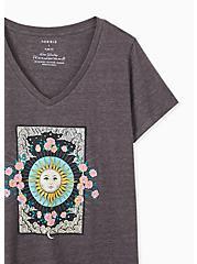 Sun & Floral Slim Fit V-Neck Tee - Triblend Jersey Dark Slate Grey , NINE IRON, alternate