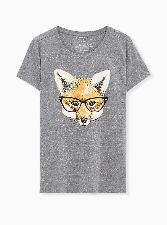 Fox Slim Fit Crew Tee - Triblend Jersey Heather Grey, MEDIUM HEATHER GREY, hi-res