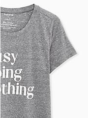 Plus Size Busy Doing Nothing Slim Fit Crew Tee - Triblend Jersey Heather Grey, MEDIUM HEATHER GREY, alternate