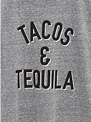 Tacos & Tequila Slim Fit Crew Tee - Triblend Jersey Heather Grey, MEDIUM HEATHER GREY, alternate