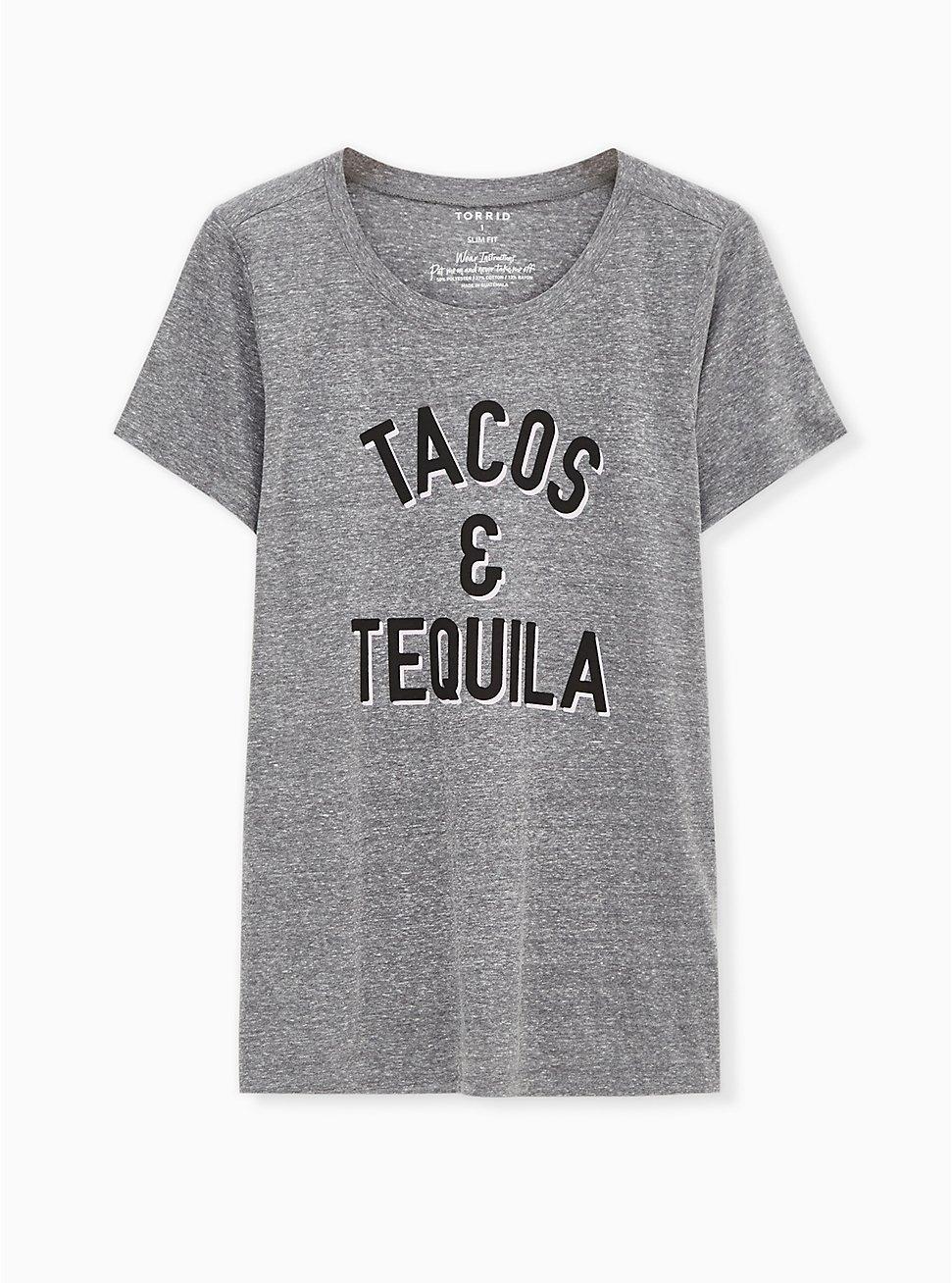 Tacos & Tequila Slim Fit Crew Tee - Triblend Jersey Heather Grey, MEDIUM HEATHER GREY, hi-res