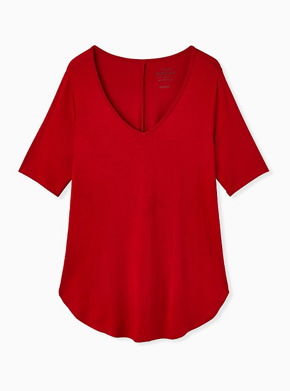 Favorite Tunic Tee - Super Soft Red, JESTER RED, ls