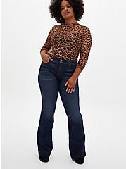 Leopard Sheer Mesh Top, , alternate
