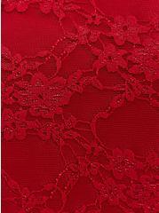 Dark Red Lace Cold Shoulder Babydoll, BIKING RED, alternate
