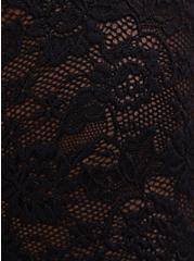 Black Sheer Lace Lettuce Edge Tee, DEEP BLACK, alternate