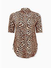 Super Soft Leopard Turtleneck Favorite Tunic Tee, LEOPARD, hi-res