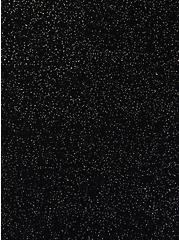 Super Soft Black Sparkle Elbow Sleeve Top, DEEP BLACK, alternate