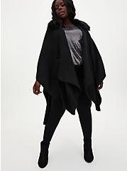 Black Sequin High Neck Top, DEEP BLACK, alternate