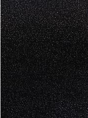 Plus Size Black Sparkle Jersey One Shoulder Top, DEEP BLACK, alternate