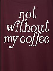 Not Without Coffee Burgundy Purple Football Tee, WINETASTING, alternate