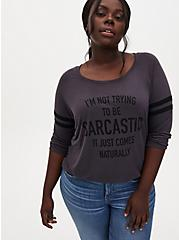 Sarcastic Dark Slate Grey Football Tee, NINE IRON, hi-res