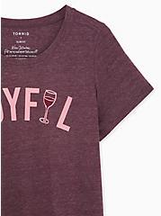 Joyful Slim Fit Crew Tee - Burgundy Purple, WINETASTING, alternate