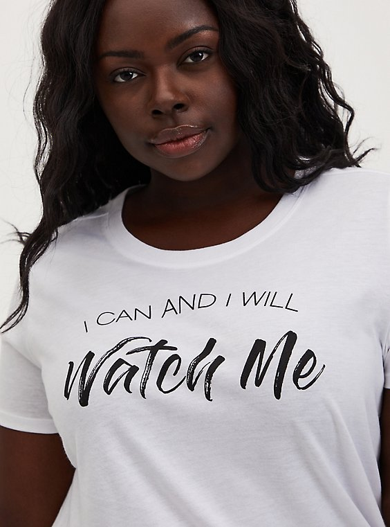 Watch Me Slim Fit Graphic Tee - White, , hi-res