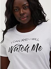 Watch Me Slim Fit Graphic Tee - White, BRIGHT WHITE, hi-res