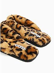 Leopard Faux Fur T-Strap Slipper (WW), ANIMAL, alternate