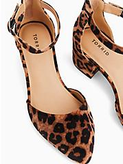 Leopard Velvet D'Orsay Block Heel Pump (WW), ANIMAL, alternate