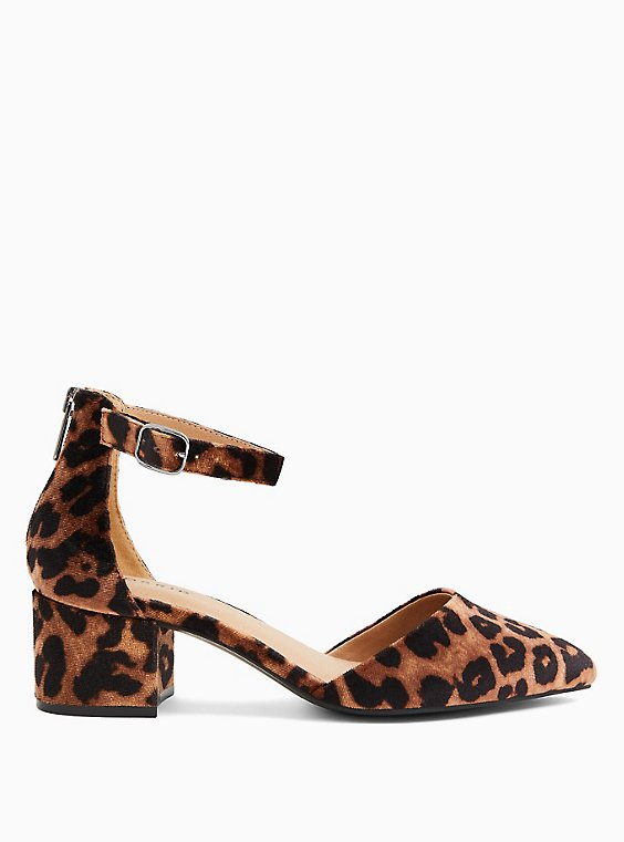 Leopard Velvet D'Orsay Block Heel Pump (WW), ANIMAL, hi-res