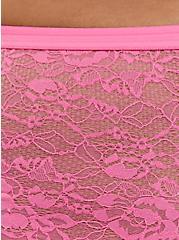 Pink Lace Cheeky Panty, AZAELEA PINK, alternate