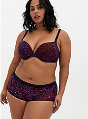 Dark Purple Heart Swirls Second Skin Brief Panty, HEART SWIRLS MULTI, alternate