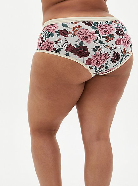 Light Grey Floral Second Skin Cheeky Panty, TULIP FLORAL, alternate