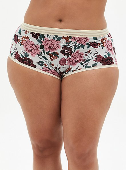 Light Grey Floral Second Skin Cheeky Panty, TULIP FLORAL, hi-res