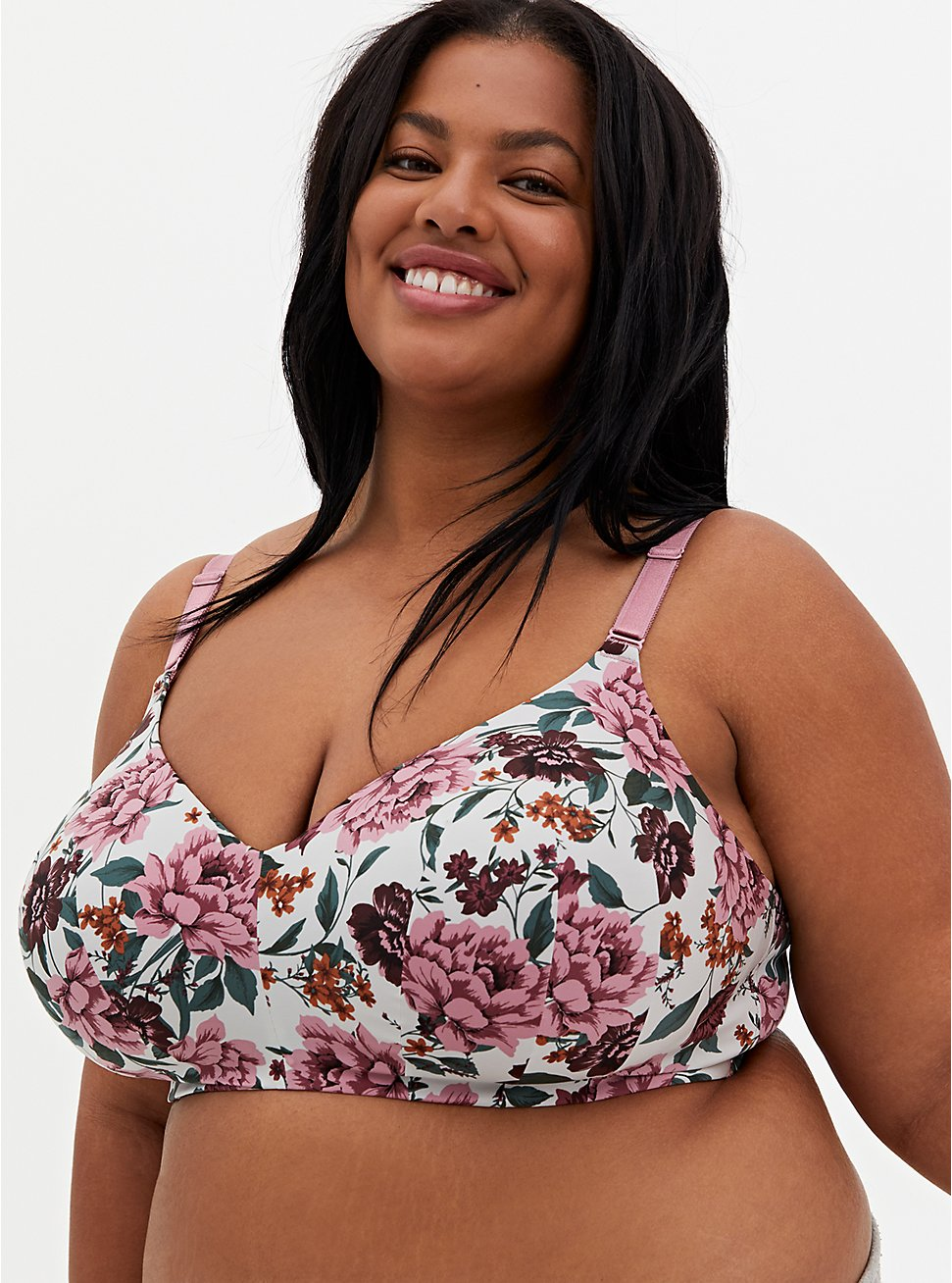 Ivory Floral 360° Back Smoothing™ Lightly Lined Everyday Wire-Free Bra, TULIP FLORAL, hi-res