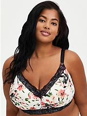 White Floral 360° Back Smoothing™ Lightly Lined Everyday Wire-Free Bra, , fitModel1-hires