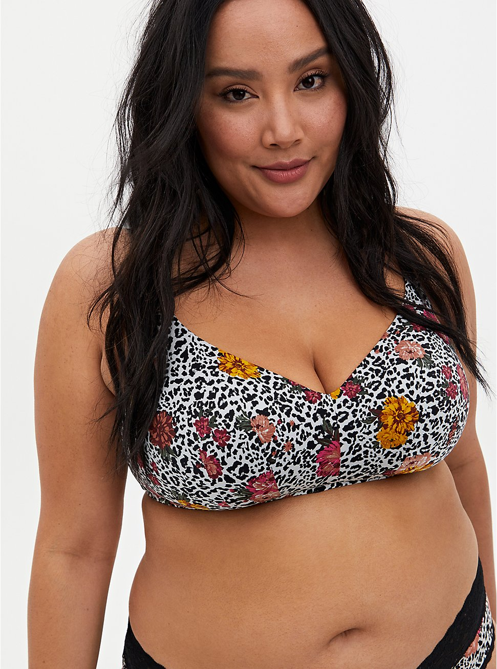 White Leopard Floral 360° Back Smoothing™ Lightly Lined Everyday Wire-Free Bra, WILD THINGS FLORAL, hi-res