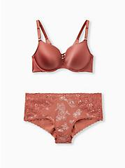 Plus Size Dusty Rose 360° Back Smoothing™ XO Push-Up Plunge Bra, WITHERED ROSE PINK, alternate