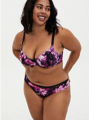 Purple Tie-Dye 360° Back Smoothing™ XO Push-Up Plunge Bra, TIGER DYE, alternate