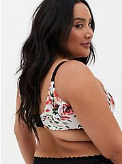 White Floral 360° Back Smoothing™ XO Push-Up Plunge Bra, ROMANTIC WATERCOLOUR FLORAL, alternate