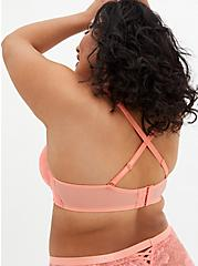 Dusty Coral Lace XO Push-Up Plunge Bra, , fitModel1-alternate