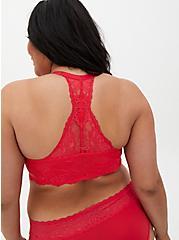 Raspberry Pink Lace Lightly Lined Racerback T-Shirt Bra, , fitModel1-alternate