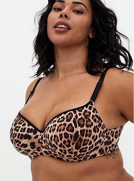 Leopard 360° Back Smoothing™ Lightly Lined Full Coverage Balconette Bra , FIFTIES LEOPARD BEIGE, hi-res