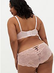 Light Pink Lace Unlined Balconette Bra , LOTUS PINK, alternate